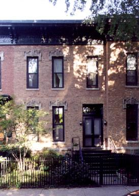 Exterior of 2229 N. Burling St., photo by Terry Tatum, 2000