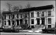 Itaninate-style Rowhouses, 3300 block of Calumet, 1987, photo by Bob Thall