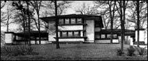 Robert Evans House, 9914 S. Longwood, Frank Lloyd Wright, architect, photo courtesy of The Art Institute of Chicago