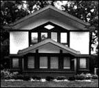 R.L. Blount House, 1950 W. 102nd St., Prairie Style, W.B. Griffin, architect, photo by Barbara Crane