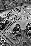 Carson, Pirie, Scott and Co.; Detail of ornamental ironwork, photo by Bob Thall