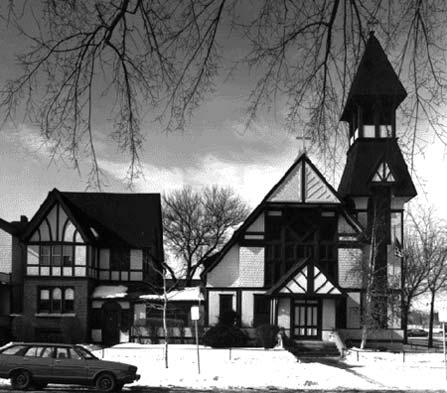 View of Church and Rectory, photo by Stephen Beal, 1982