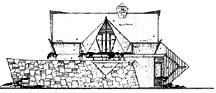 Drawing of side elevation, by Bruce Goff
