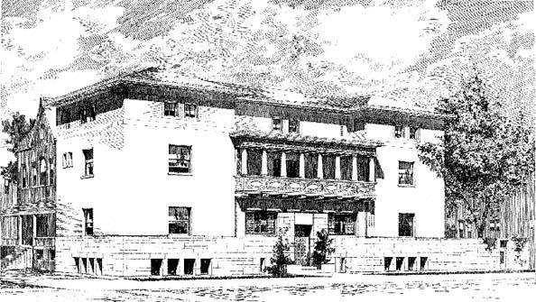 Original Rendering, Adler & Sullivan, 1892