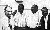 (L to R) Leonard Chess, Howlin' Wolf, Willie Dixon, Sonny Boy Williamson, circa early 1960s