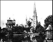Union Park Lagoon and Church, circa 1878-79