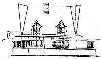 Main Elevation Drawing, circa 1900