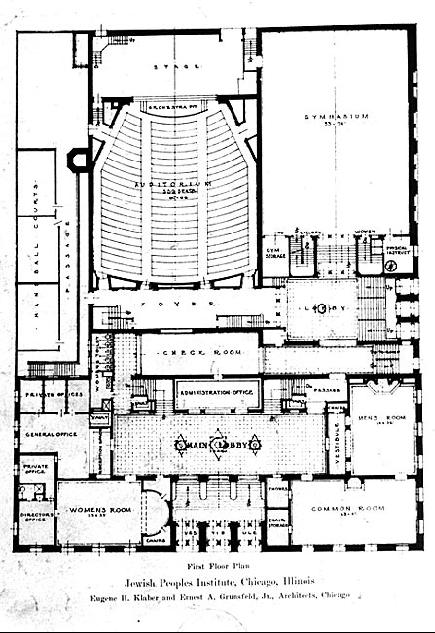 First floor plan, 1928