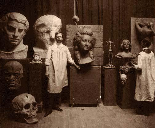Lorado Taft in his Studio