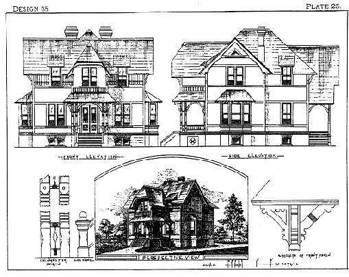 Drawing from Palliser's American Cottage Homes, 1878