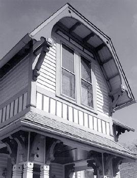 Roof detail, photo by Bob Thall, 1999