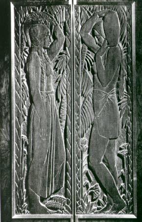 Elevator Door panels by Enrique Alferez, circa 1929