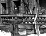 View of now-missing ornamental fence, 1940