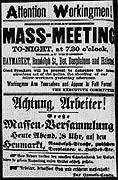 Circular for May 4, 1886 meeting in Haymarket Square