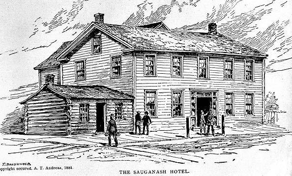 Sauganash Hotel, 1833