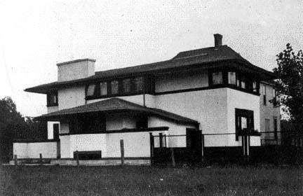 side elevation house beautiful sept 1905