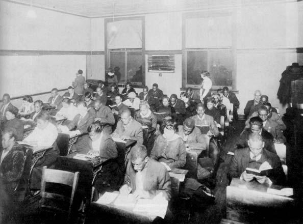 An adult education class at Phillips, 1940s