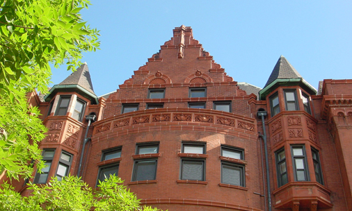 Cobden roofline detail, photo by Terry Tatum, CCL, 2004