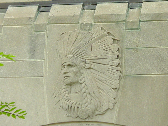 Indian head detail, photo by Terry Tatum, CCL, 2003