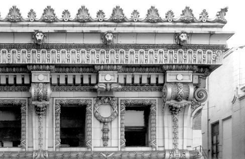 Cornice detail, photo by CCL, 2004