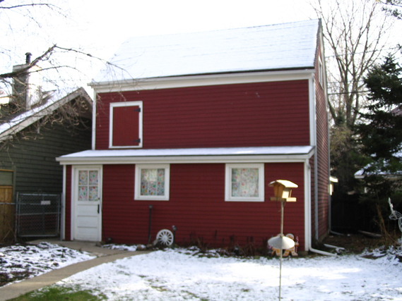 Barn showing addition, photo by CCL, 2004