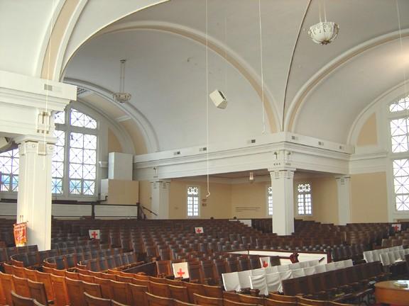 Rear auditorium view, photo by Terry Tatum, DPD, 2005