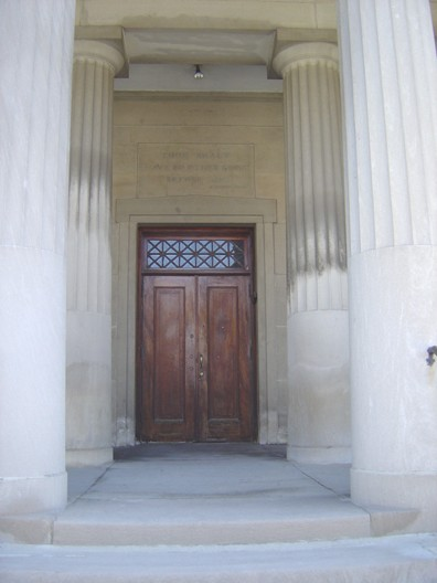 Porch detail, photo by Terry Tatum, DPD, 2005