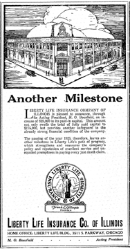 Ad for Liberty Life Insurance Co., 1926