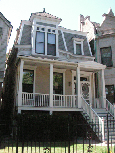 Second Empire-style house on N. Orchard Ave., 2006