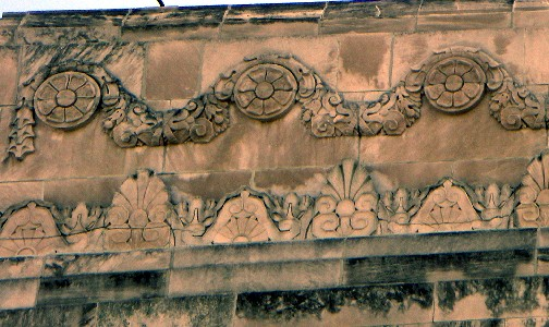 Carved limestone decoration
