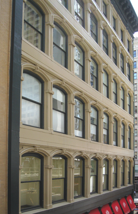 1872 Cast-iron facade facing Lake Street