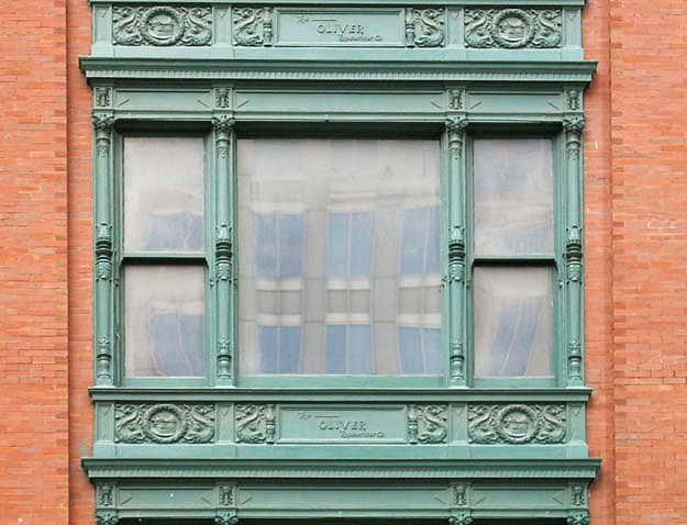 Cast-iron window frame