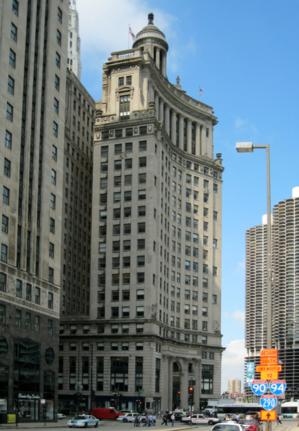 Wacker Dr. and Michigan Ave. elevations