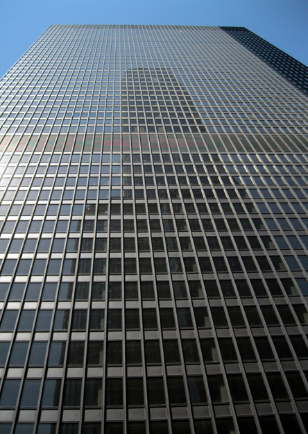 Steel curtain facade
