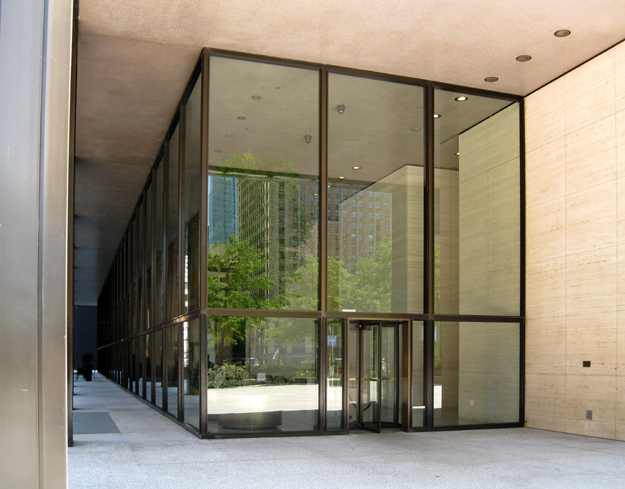 Glass enclosed lobby