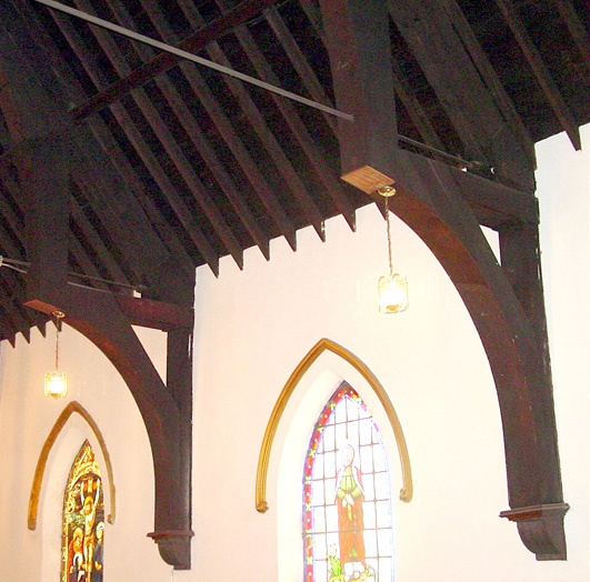 Interior detail of roof truss