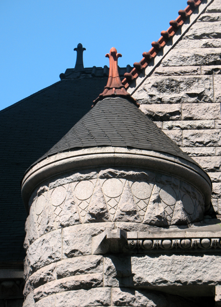 Stone turret detail