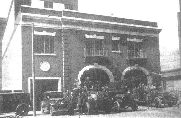 Exterior view in 1928, courtesy of the Chicago Fire Department