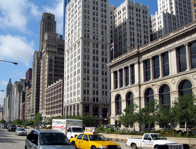 View south from 400 N. Michigan Ave.