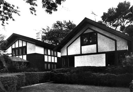 Jenkinson and Clark houses, photo by Barbara Crane, 1978