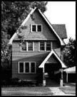 1669 104th Place, one of the non-Griffin designed houses in the district, photo by Barbara Crane 1978