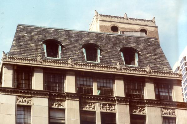 Mansard roof (detail), photo by CCL, 2003