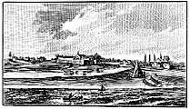 Engraving of Ft. Dearborn in 1830