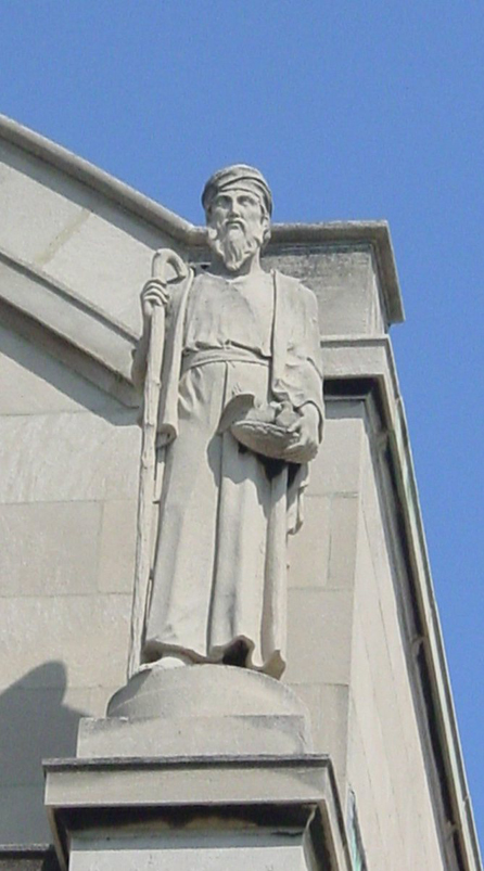 Rooftop statue detail, St. Gelasius Church Building. Photo by Eleanor Gorski, CCL, 2003