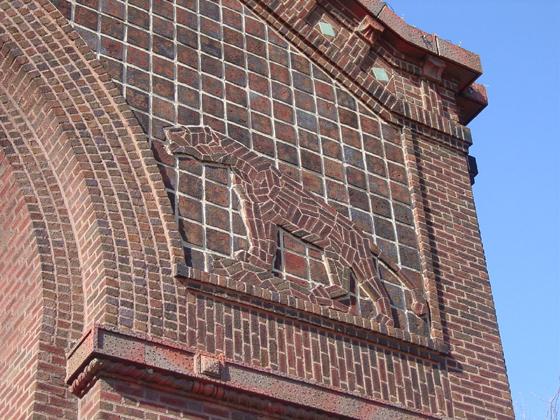 Lion mosaic detail, by Terry Tatum, CCL, 2005