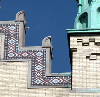 St. Nicholas Cathedral roofline detail, photo by Matt Crawford, CCL, 2006