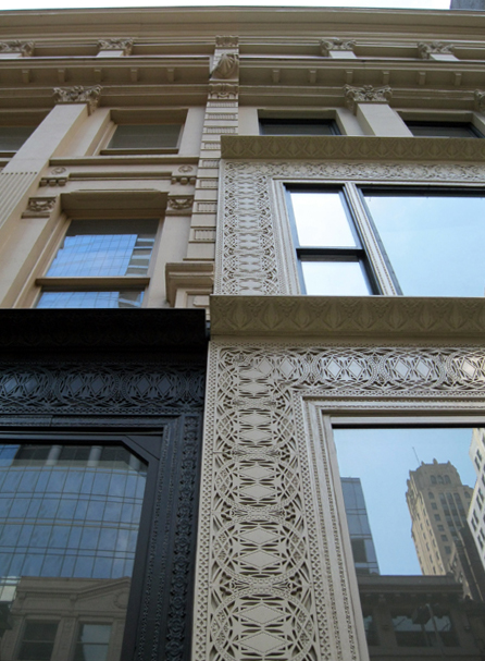 Louis Sullivan iron work detail