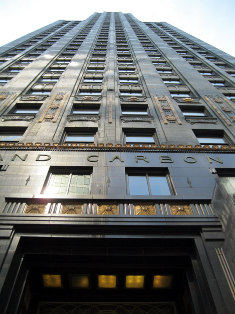 Michigan Ave. elevation from grade