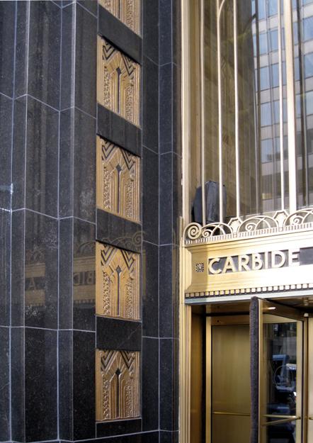 Bronze entrance detail